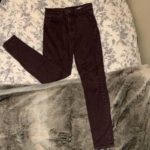 Maroon Gap High Waisted Skinny Jeans